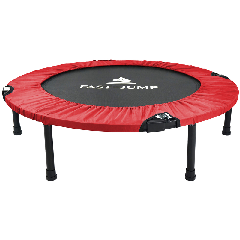 Mini trampoline 92cm pliable fast jump rouge int rieur for Trampoline interieur
