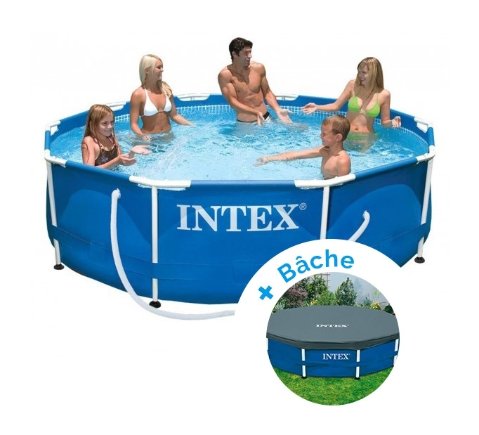pack piscine tubulaire et purateur intex metalframe x m b che avis et prix manomano. Black Bedroom Furniture Sets. Home Design Ideas