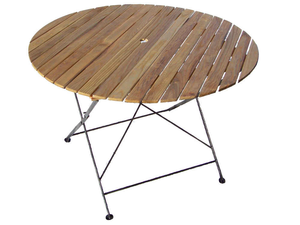 Table De Jardin Table Ronde Pliante Bistrot Diam 106 X H 72 Cm