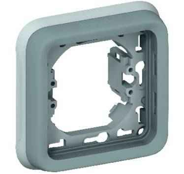 LEGRAND - Support plaque encastré composable 1 poste gris - Plexo - 069681