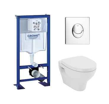 Pack Grohe Rapid SL + Cuvette POP2 + Plaque Blanche