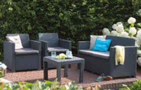 Salon de jardin ALABAMA Coloris graphite