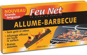 Tablette 18 Allume-Barbecue barrette 20cm