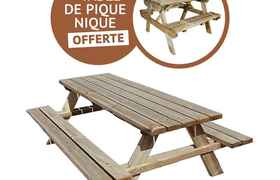 2 table de pique-nique: adulte + enfant