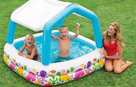 """Deluxe Pool """"Sun Shade"""". Pataugeoire pour les petits"""