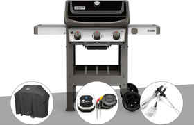 Barbecue gaz Weber Spirit II E-310 + plancha + Housse + Thermomètre IGrill 3 + Kit Ustensile
