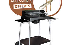 Barbecue Isy fonte 55 + 3 accessoires offert - Cook'in Garden