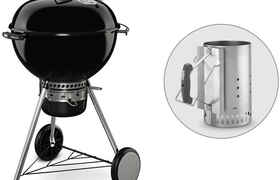 Barbecue Master Touch GBS 57 cm + Cheminée d'allumage - Weber