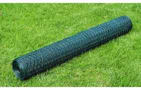 vidaXL Grillage plastifié à mailles hexagonales 75 cm x 25 m, 1 mm