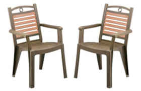 Lot de 2 Fauteuils Winston bronze GROSFILLEX