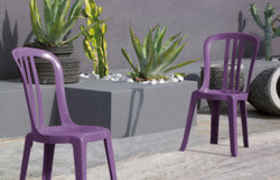 Lot de 2 chaises MIAMI Bistrot Coloris purple