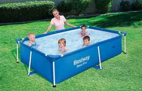 Piscine tubulaire rectangle Splash Frame Pool - 2.39 x 1.50 x 0.58 m