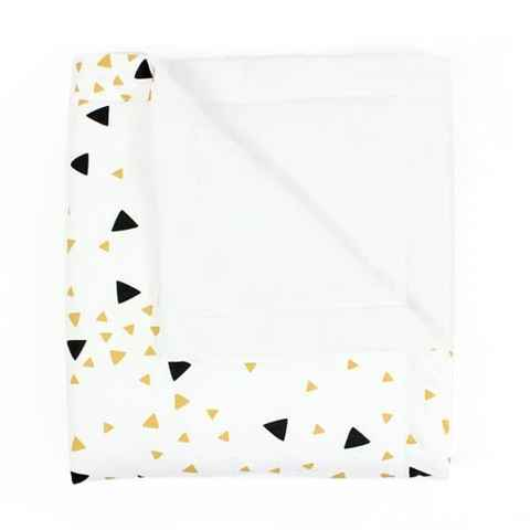 Couverture triangles noirs - 100x150