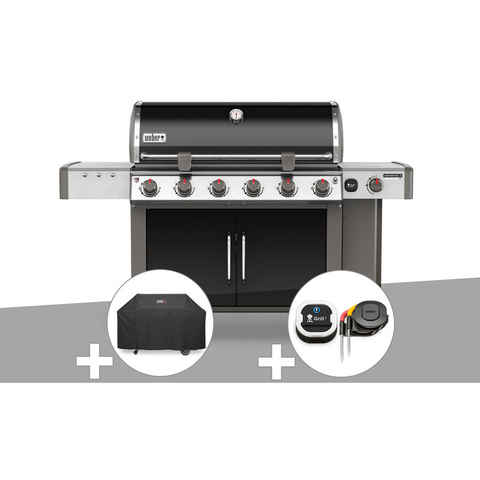 Barbecue gaz Weber Genesis II LX E-640 GBS Noir + Housse + Thermomètre IGrill 3
