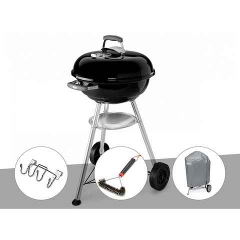 Barbecue Weber Compact Kettle 47 cm + Support accessoires + Brosse + Housse