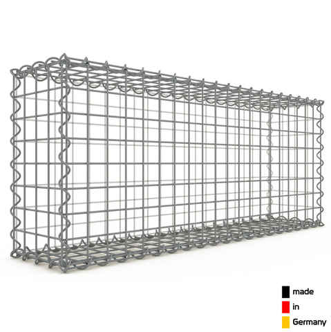 Gabion 100x40x20cm « made in Germany » - mailles carrées 5x5cm - GABIONDECO