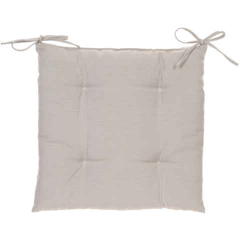 Galette de chaise 4 Boutons - 40 x 40 cm - Taupe - HESPERIDE