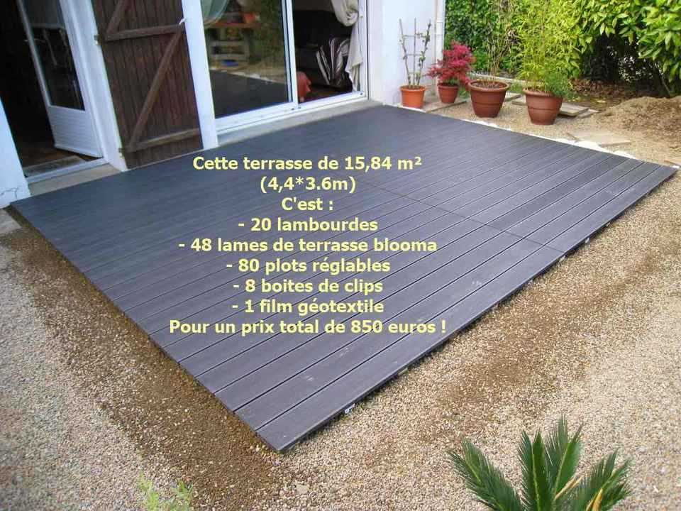 Infographie terrasse composite