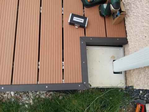 Finition bordure terrasse composite