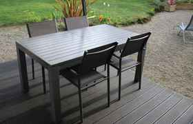 table alu de jardin Naterial Antibes 220
